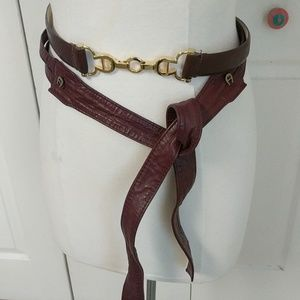 Two Etienne Aigner Belts, Size S/M